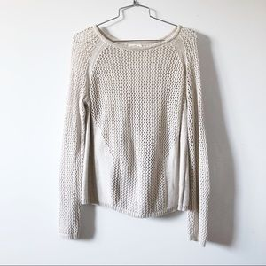 3/20$ Silence + noise crochet beige sweater